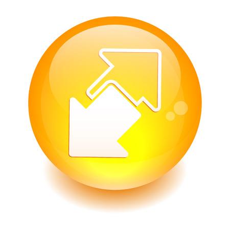 disconnect: button internet connection disconnect arrow orange