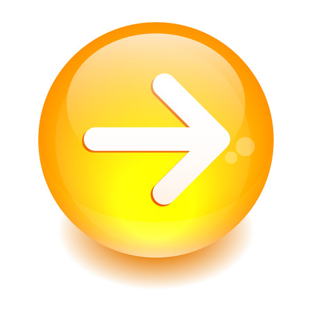button Internet right arrow orange Illustration