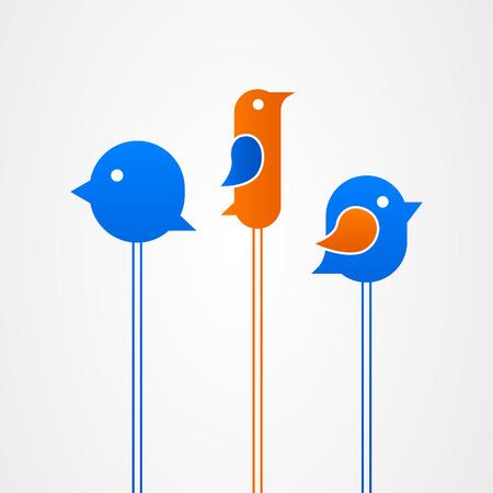 frequency modulation: Twitter bird icon