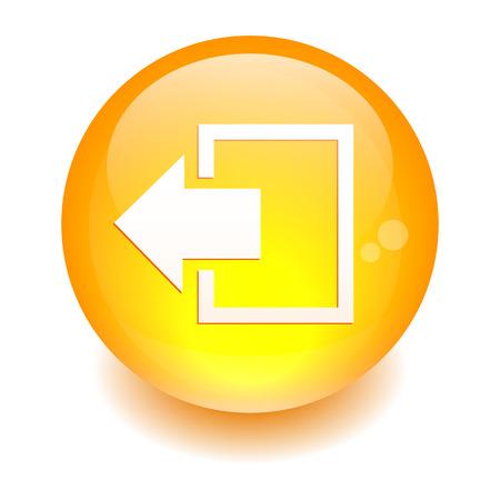 disconnect: Button output disconnect Internet icon  Illustration