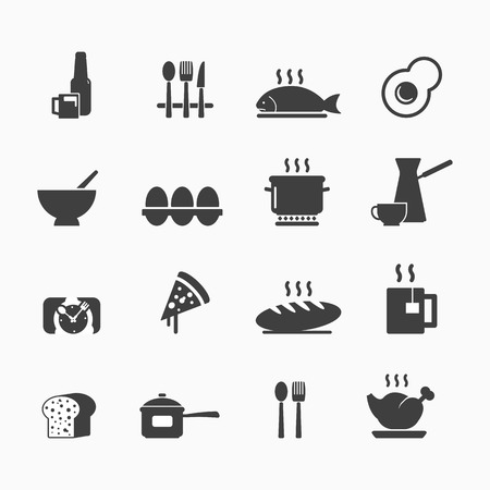 Food button icons core set