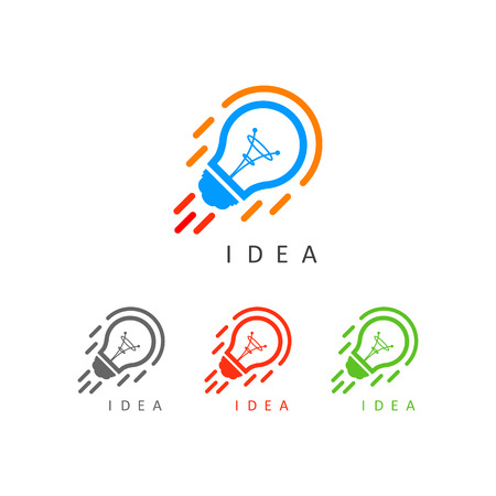 execute: Business idea icon button Illustration