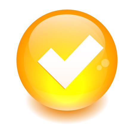 accepter: Bouton accepter ic�ne d'orange