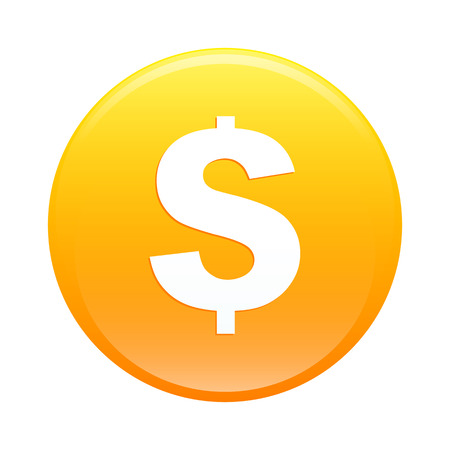 argent: Bouton internet argent finance icon orange sign