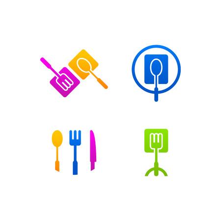 kitchen business icon menu web Vector