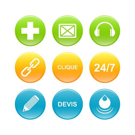 3d business button web icon Vector