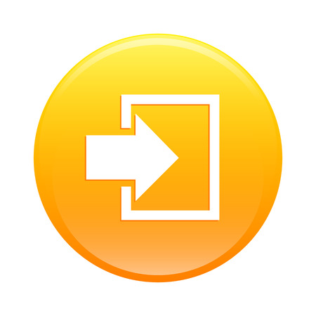 connexion: bouton internet connexion icon orange sign