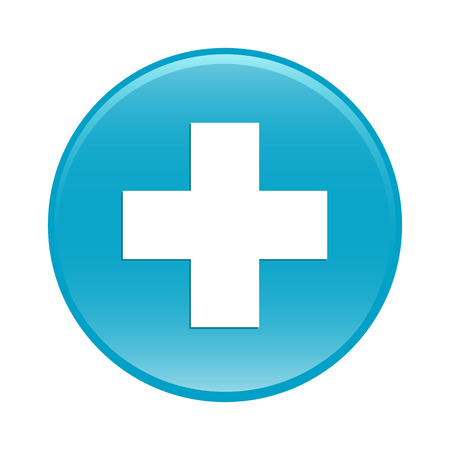 Bouton internet health icon blue sign Vector