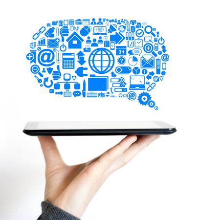 Business cloud communications Internet data icons photo