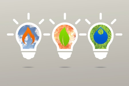 clean energy: Business idea clean energy lamp nature Stock Photo
