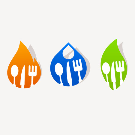 Abstract kitchen sign icon sticker Illustration