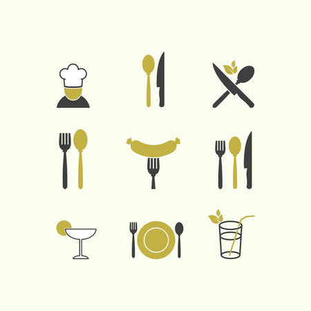 fork: Vector restaurant food icon menu cuisine