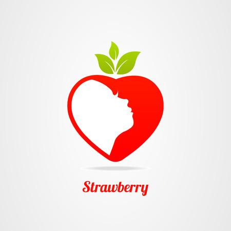 Graphics design icon face icon strawberry Illustration
