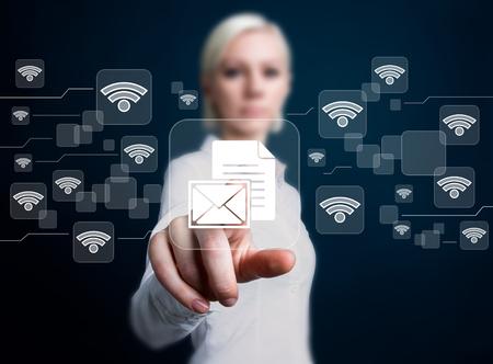 Social network Wifi business button file icon