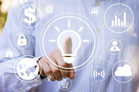 Button idea bulb business online