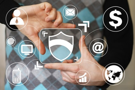 to privacy: Button shield security virus business