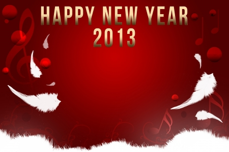 Happy New Year Card Red Background photo