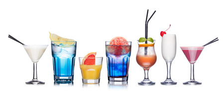 Collection of refreshing alcholic cocktails Zdjęcie Seryjne