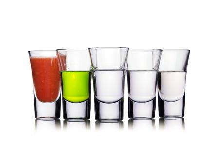 Set von alkoholischen Cocktail in ein Schnapsgläser