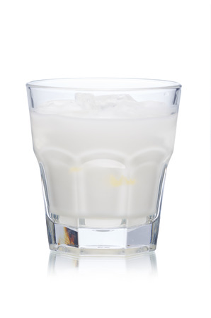 highball: White Russian alcoholic cocktail in highball glass