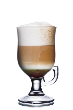 capuchino: Glass of coffee cocktail with foam Stock Photo