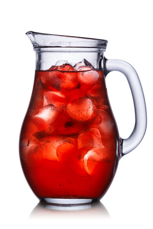 Backlit pitcher with iced drink. Isolated,easy fits to dark and light backgrounds. Zdjęcie Seryjne