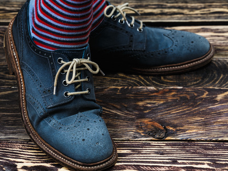 Close up of mens brogues