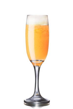 bellini: Puccini alcoholic cocktail (a kind of famous Bellini with mandarin juice)