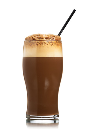 fizzy: Glass of homemade New York Egg Cream fizzy drink contains neither eggs nor cream. The basic ingredients are milk, seltzer, and chocolate syrup