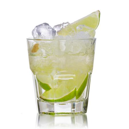 highball: Caipirinha alcoholic cocktail in low highball glass