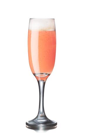 Bellini alcoholic cocktail Фото со стока