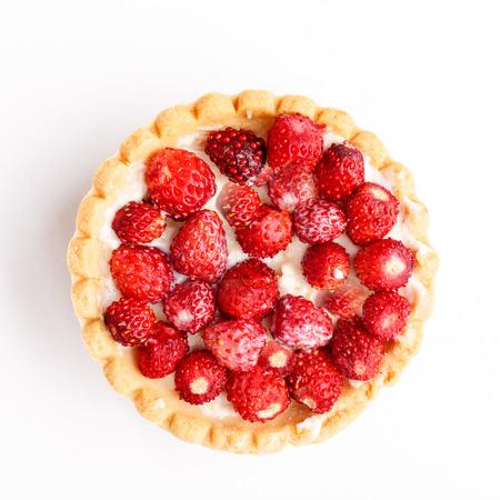 sweet tart: Dessert with wild strawberries.  Sweet tart with wild strawberry