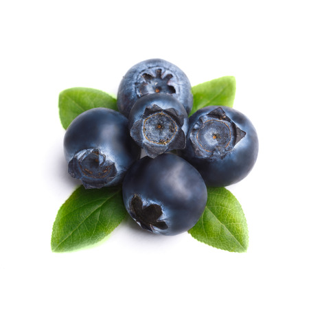 resemble: Bilberries or blueberries with leaves Retouched to resemble painting, excessive berries details muted, texture smoothed. Stock Photo