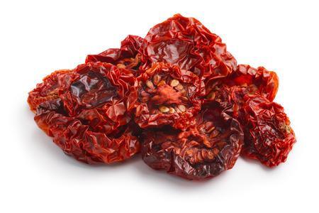 sun dried: Sun dried halved cherry tomatoes. Studio shoot, infinite depth of field