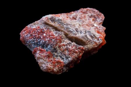 Sylvite Erz. Kaliumchlorid (KCl) in natürlichen Mineral Form. Standard-Bild