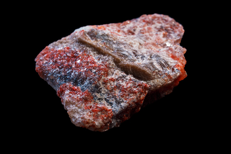 potassium: Sylvite ore. Potassium chloride (KCl) in natural mineral form.