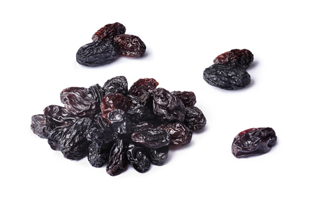 seedless: Set of Dark natural seedless raisins from California. Sun-dried untreated grapes. Retouched, large depth of field
