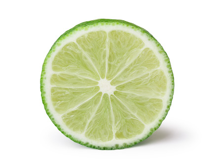 Lime  wheel facing camera. Infinite depth of field,clipping path,retouched