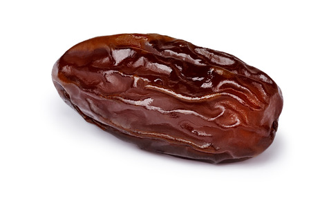 Dried date (fruit of palm Phoenix dactylifera). Infinite depth of field, retouched, clipping paths