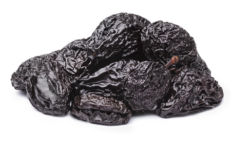 spotless: Prunes or dried plums. Infinite depth of field, spotless retouched. Clipping paths for both prunes and shadow