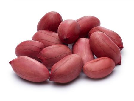 shelled: Raw shelled peanuts.