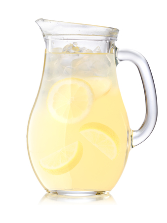 pani: Jug or pitcher of iced lemonade or citronade. Stock Photo