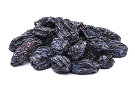 Dark blue natural seedless raisins (Isabella, Zante Currant, Uzum). Sun-dried untreated grape.