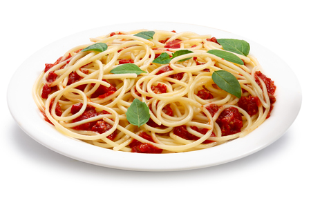 pasta sauce: Spaghetti with bolognese sauce.