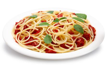bolognese sauce: Spaghetti with bolognese sauce.