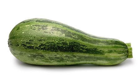 cucurbita: Whole striped zucchini (Cucurbita Pepo).  shadows separated, infinite depth of field. Design elements