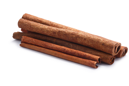 Pile of cinnamon sticks. , shadow separated Stock Photo