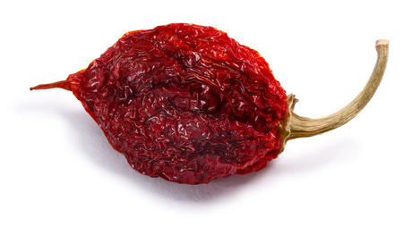 Dried Habanero (Capsicum chinense) chile pepper, whole pod. Clipping paths, shadows separated Stock fotó