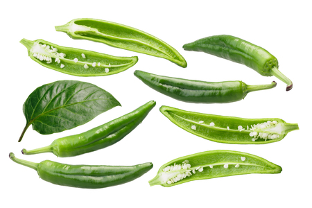 Numex Sandia Select Chile Peppers (C. annuum), green.