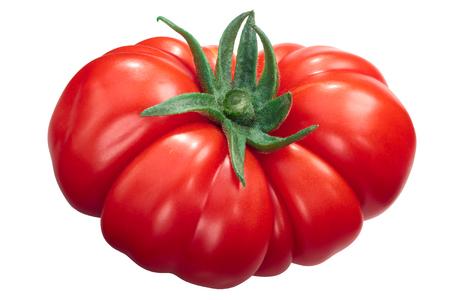 Costoluto di Parma ribbed heirloom tomato (Solanum lycopersicum) Stock Photo